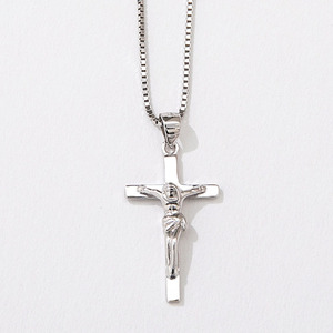 Hot & Fashion new design Cross Pendent 925 Sterling Silver Christian Image Necklace Charm Jewelry