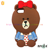 Hot selling cartoon style silicone phone cases animal bear for phone