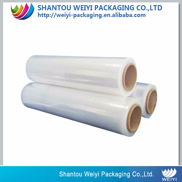 High quality food grade PE/LDPE trasparente wrap film estensibile su rotolo