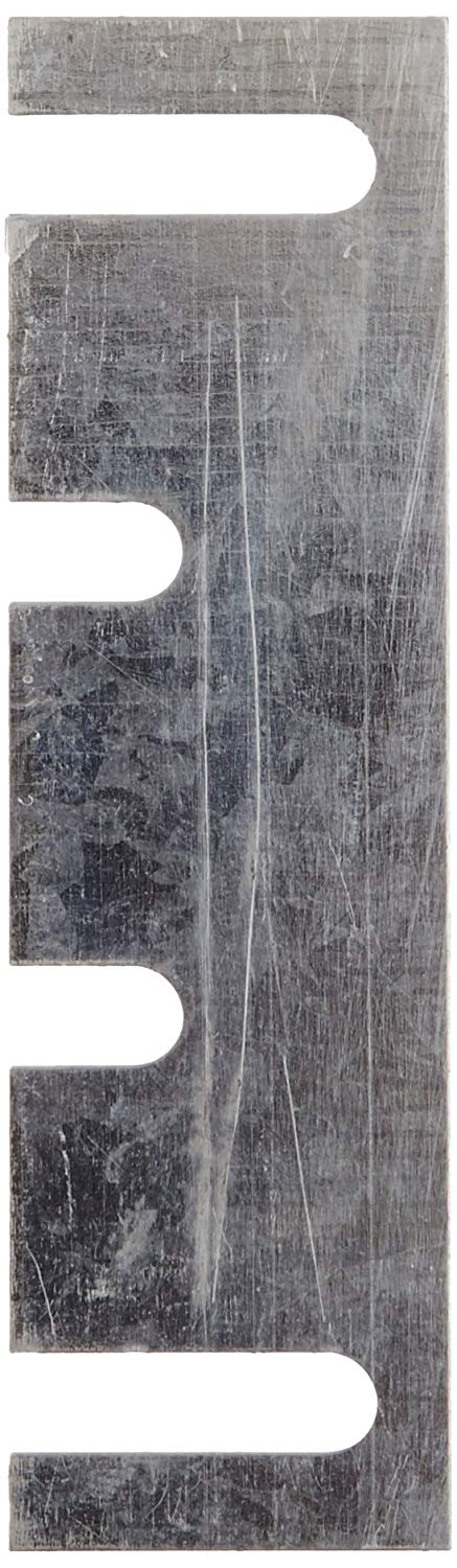 """Rockwood HS52 Steel Hinge Shim, 1-7/16"""" Width x 5"""" Height x 0.028"""" Thick, Galvanized Coat Finish (Pack of 50)"""