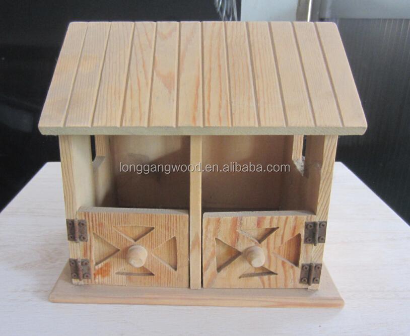 Assemble New Design Handmade Christmas Bird Houses Wood