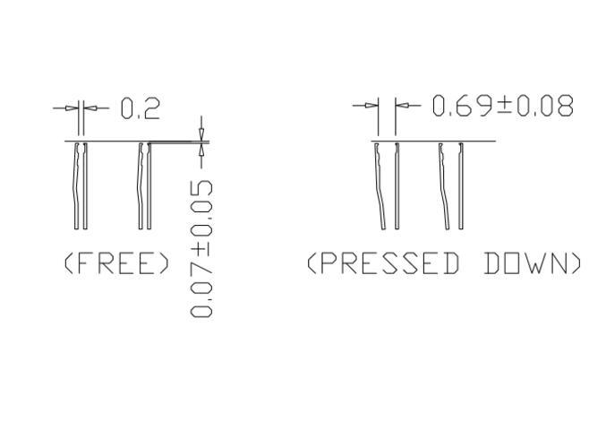 DDR2 ddr3 ddr4 78ball burn in socket pin