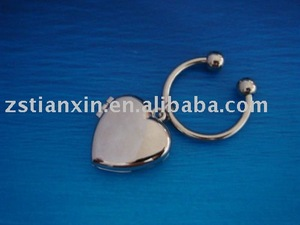 metal photo frame key chain/heart shape photo frame
