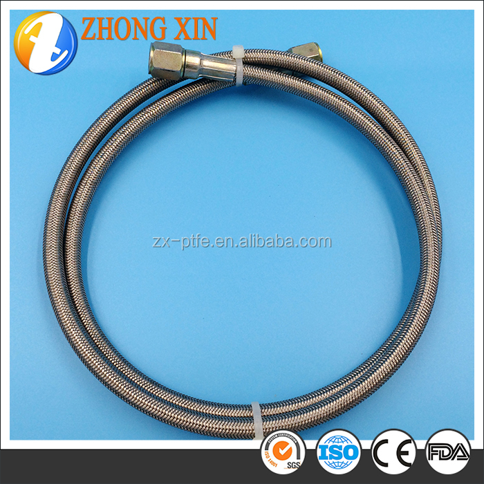 Low high temperature resistance teflon braided tube for