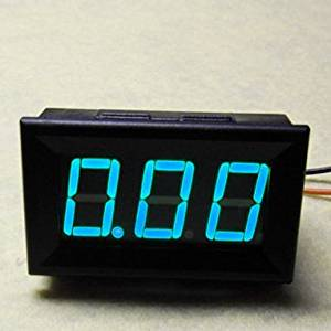 Angelelec DIY Open Source Power Module, Blue Led 10A DC AMMeter,Adopts Wide Voltage Power Supply (4-30V),Includes a Reverse Protection,Suitable for ROBOT Project Low Power Consumption Measuring 9.99A