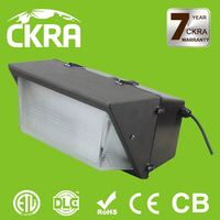 5 years warranty DLC&ETL listed high lumen output high efficiency 5000K brightness led wall pack with sensor