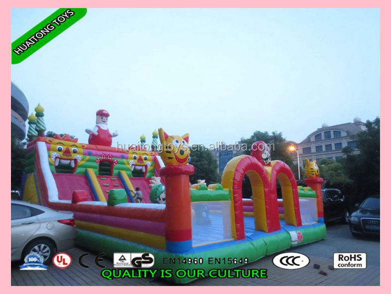 2016 outdoor inflatable fun city/animal inflatable for kids/ inflatable amusement park