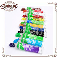 New Brand Neon Artist Oil Color Paint Acryl Watercolor Fabric Set For Student Painting 12ml 12 Tubes Wholesale