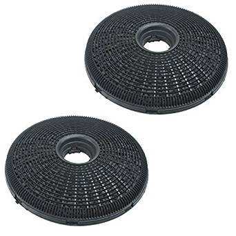 Qualtex 2X 190Mm Round Charcoal Cooker Hood Carbon Filters Compatible With Diplomat Cooker Hoods