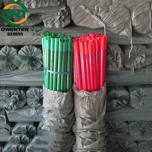 Road sweeping broom handle sticks pvc plastic pipe with plastic end caps with colored