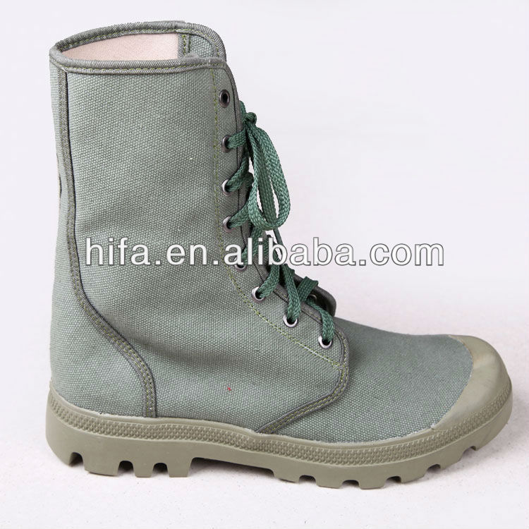 French Military Green Canvas Boots Combat Boots Jungle Boots ...