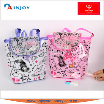 DIY coloring handbag for girls