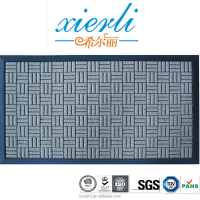 Indoor and outdoor use rubber backed mat for floor