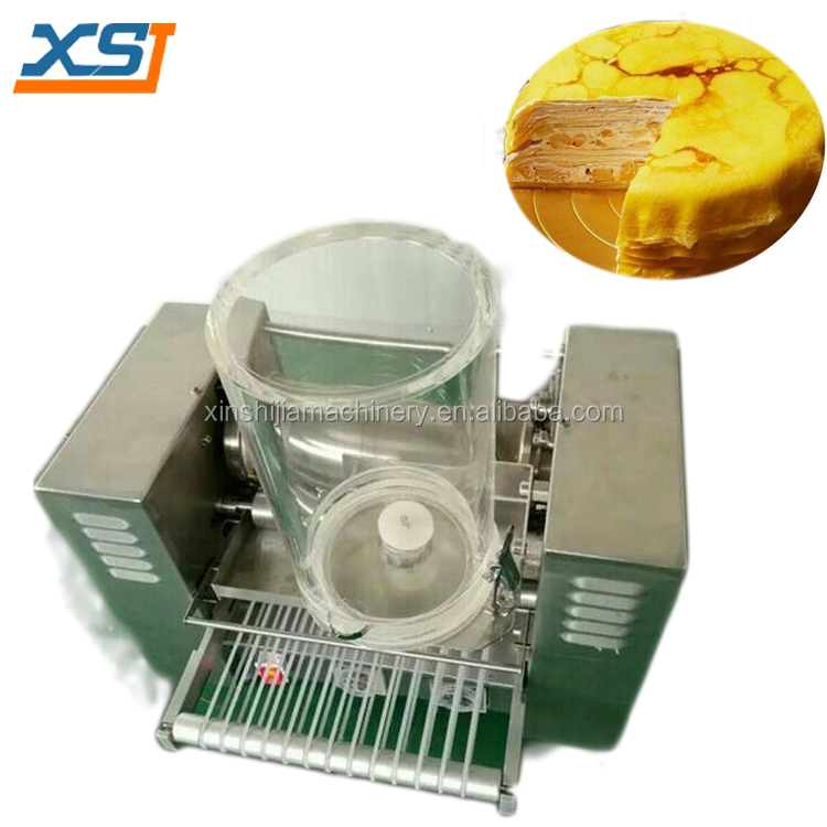 Multifunctional automatic cheese layer cake making machine durian mille crepe machine