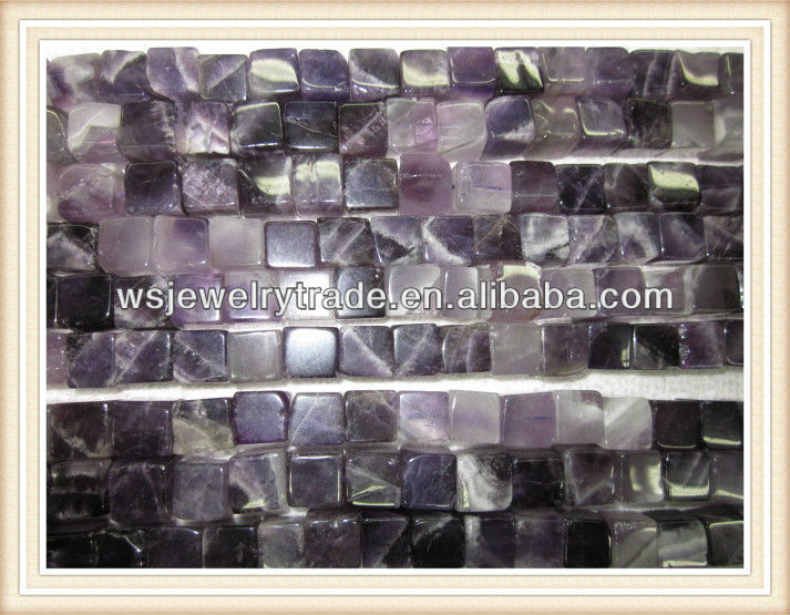 Cube Amethyst Stone Strands Wholesale