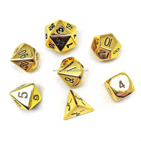 Factory direct wholesale metal polyhedral dice set for board game