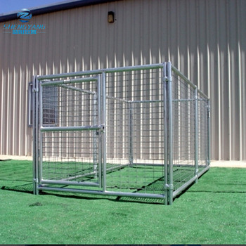 outdoor single run kennels strong welded steel wire construction