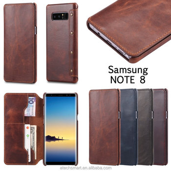Luxury Genuine Leather Phone case cover Wallet case, for Samsung Note 8 S8 S8 Plus S9 S9 Plus genuine leather case
