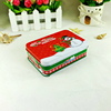 Christmas festival rectangular cookie tin box for gift