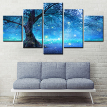 Abstracte boom Landschap HD Photo Art Prints 5 Panel Aangepaste Canvas Schilderij Moderne Thuis Muur Decor Natuur Landschapsschilderkunst