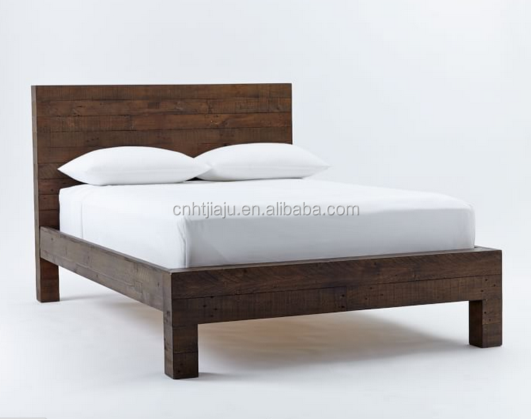 High Quality Wooden Bed Frame Wooden Bed Design Hotel Bed