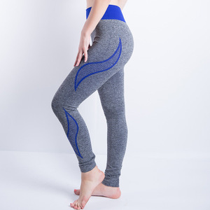 Europe and the United States sports wind yoga fitness pants tight hip seamless leggings