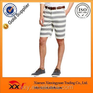 men's horizontal stripe twill new picture fashion short pants wholesale rugby shorts