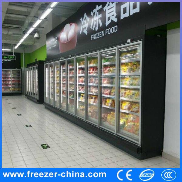 Glass door beverage refrigerator walk in display cooler for Build your own walk in beer cooler
