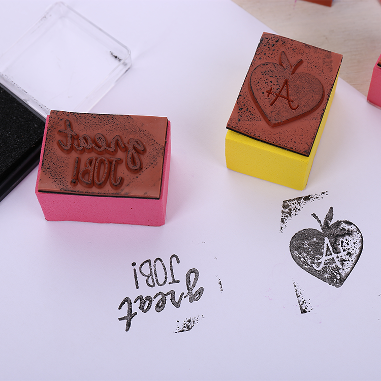 Teacher's remark EVA rubber bottle stamps set