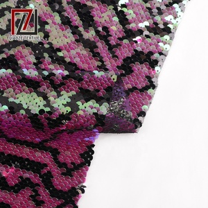 hot sell 5mm fish scale sequin mesh fabric