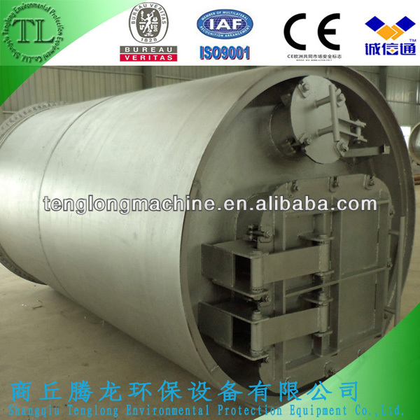 2013 lastest continuous waste tire/plastic/rubber recycling machinery