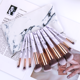 10 Piece Makeup Brushes Set Beauty Make Up Brush Kits With Marble cylinder Marble Makeup Brush Set