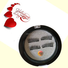 2017 High Quality New Natural mink 3D Eyelashes False Lashes with Magnetic Eyelashes custom Package Box Private Label