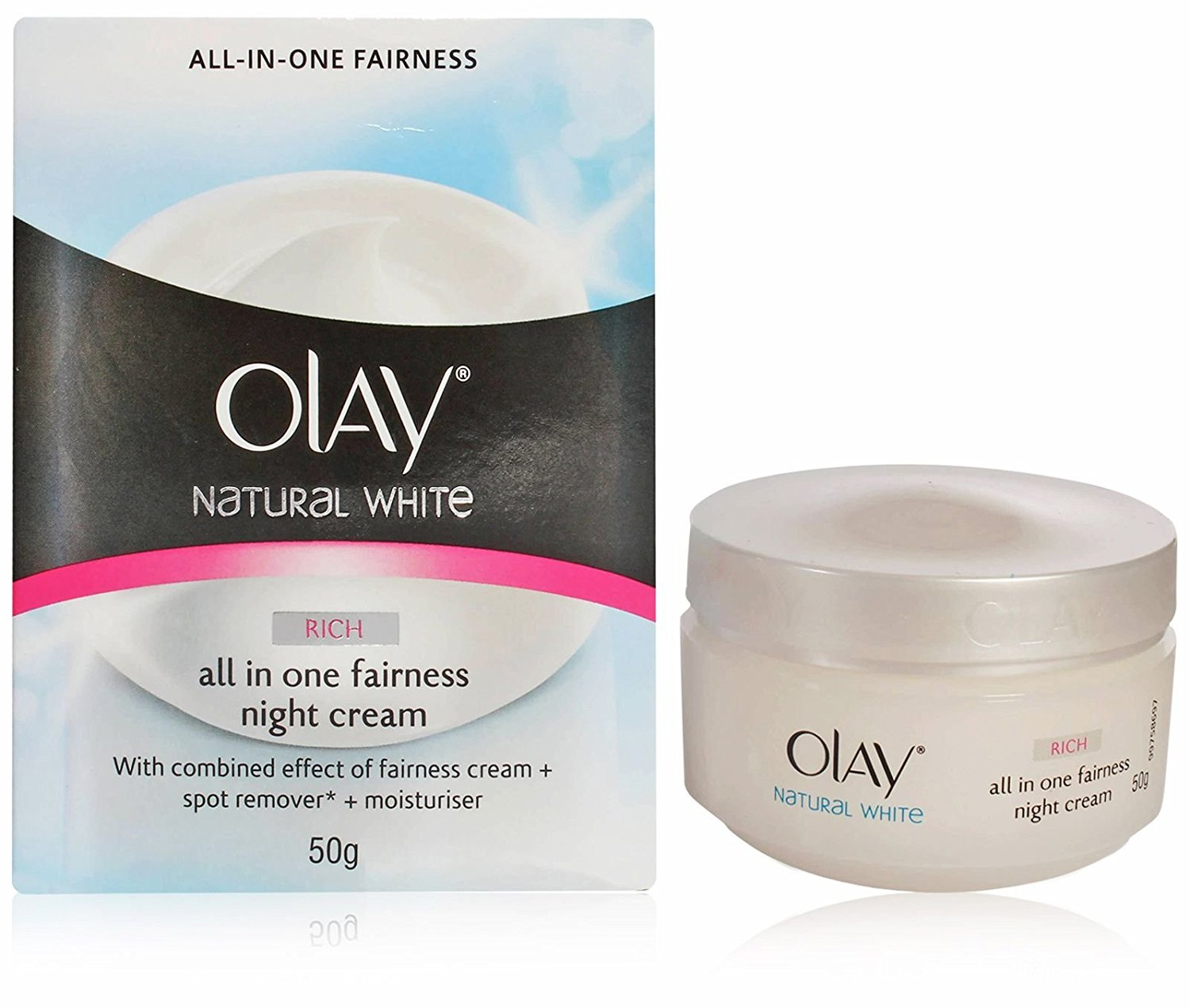 OLAY (Imported) Natural White RICH All in One Fairness Night Cream 50 g with ...