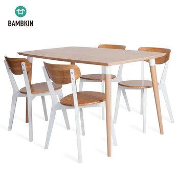 Bambkin De Bambú Muebles De Cocina,Mesa De Comedor Y Silla Conjunto Para 46 Cinco Piezas Rectángulo Conjunto Mesa De Comedor Buy Mesa De Comedor De