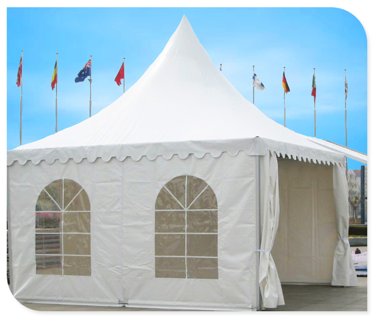 10x10 outside waterproof canvas covers pagoda party wedding tent with pvc tent fabric