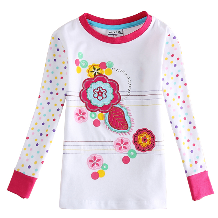 Buy Children Clothing Girl T Shirt Embroidery Flowers 2015 Chinese