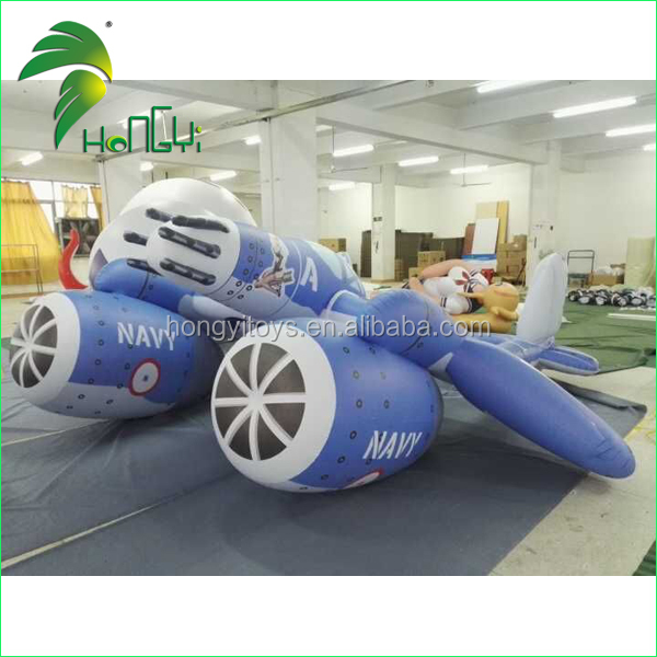Outdoor Custom Promotion Inflatable Airplane Rider Model / Inflatable Advertisement Plane Shaped Balloons