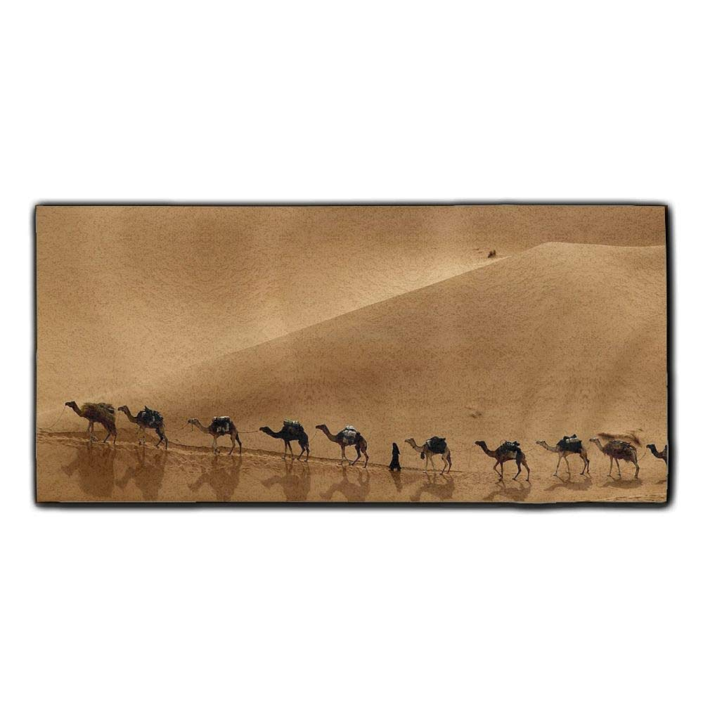 Baerg Microfiber Super Absorbent Face Towel Camel Caravan Hair Care Towel Gym Spa Towel