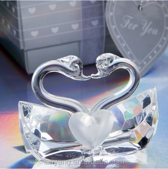 Wedding Gift Crystal Glass Swan Wholesale Crystal Gift or Home Decorations