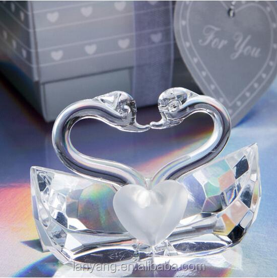 Swan Wedding Gift Return: Wedding Gift Crystal Glass Swan Wholesale Crystal Gift Or