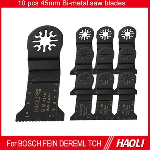 10 pcs 45mm Bi-metal oscillating tool saw blades,used for multi-tool,cutting wood and soft metal