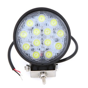 12V 39W 42W LED Auto Work Light For Race Cars Tractor Truck 39W 4x4 LED Offroad LED Head Lamp With Aluminum Housing