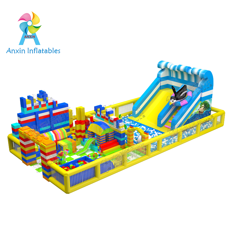 Commercial indoor Shopping malls used new design inflatable Ball pit with slide for kids