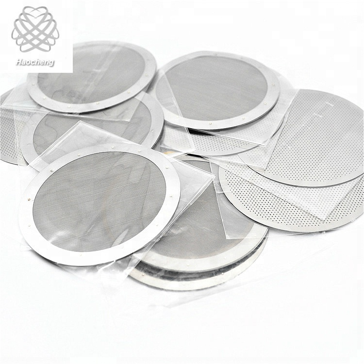 13 14 micron dutch weave stainless steel coffee disc filter  mesh