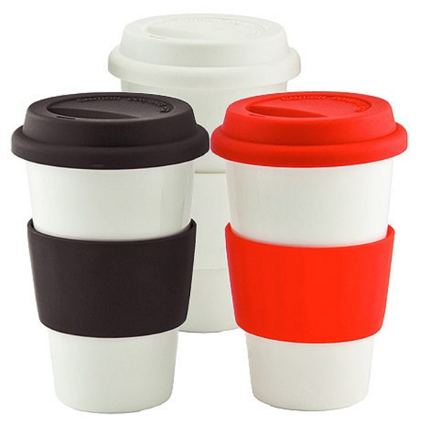 Wholesale Custom Ceramic Coffee Mug With Silicone Lid