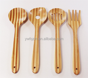 Bamboo kitchen tool 4 sets cooking bamboo spoon