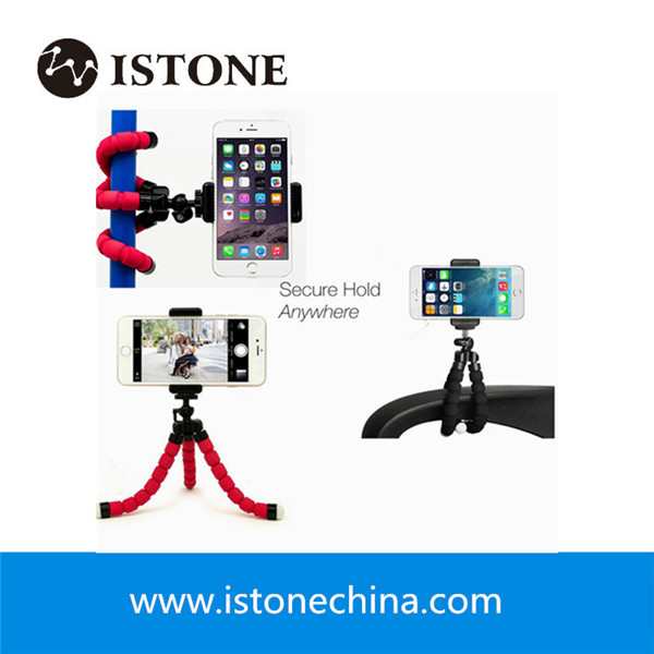 Custom Flexible Mini Tripod Octopus Tripod Stand With Bluetooth Remote For iPhone