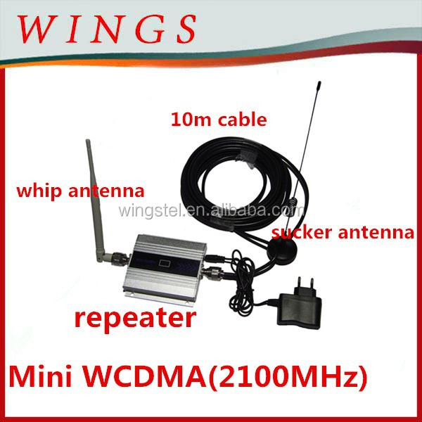mini wcdma cellphone booster/mobile signal booster for 2100MHz ,3G mobile phone repeater