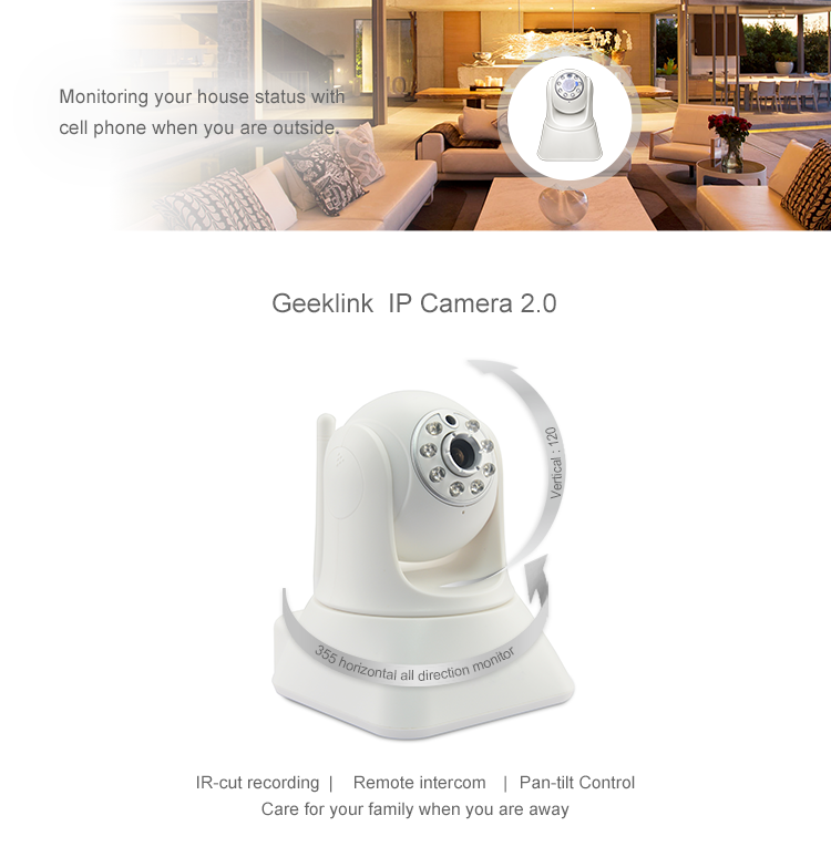 Geeklink camera wifi wireless wide angle Ip surveilance security camera app control